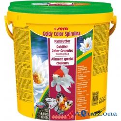 Корм для яркости окраски Sera Goldy Color Spirulina 3,8кг