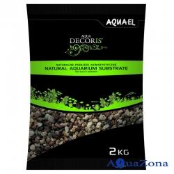 Грунт Aquael Aqua Decoris Разноцветный гравий 3-5мм 2кг