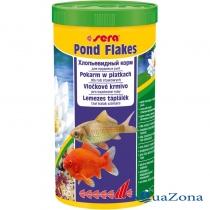 Хлопьевидный корм для прудовых рыб Sera Pond Flakes 180гр