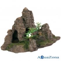 Декорация для аквариума «Гора с растениями» Trixie 8853