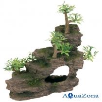 Декорация для аквариума «Утёс с растениями» Trixie 8852