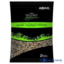 Грунт Aquael Aqua Decoris Разноцветный гравий 1,4-2мм 2кг