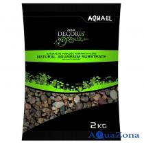Грунт Aquael Aqua Decoris Разноцветный гравий 5-10мм 2кг