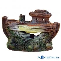 Грот для аквариума ZE Лодка Л1