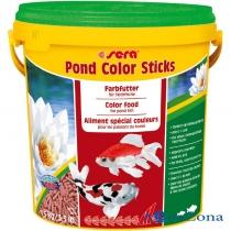 Корм для яркости окраски прудовых рыб Sera Pond Color Sticks 1,5кг
