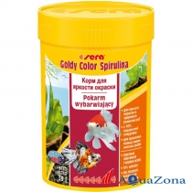 Корм для яркости окраски Sera Goldy Color Spirulina 39гр